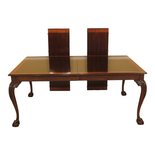 Chippendale Stickley Ball & Claw Mahogany Dining Room Table