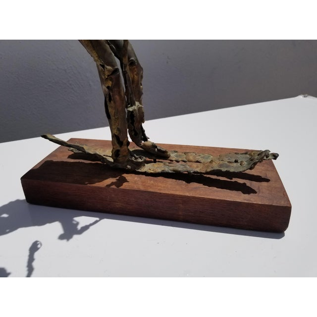 Copper 1970s Brutalist Art Torch Copper Table Sculpture For Sale - Image 8 of 10