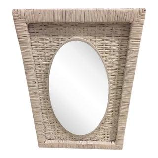 Vintage Cottage Style Wicker Mirror