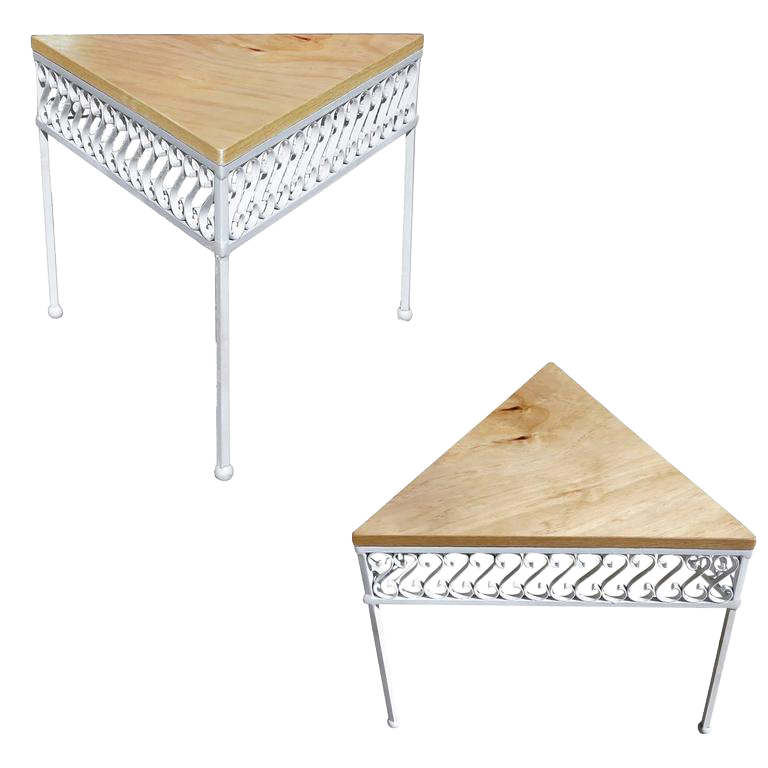 Outdoor/Patio Ribbon Side Table By Maurizio Tempestini For Salterini  A  Pair For Sale