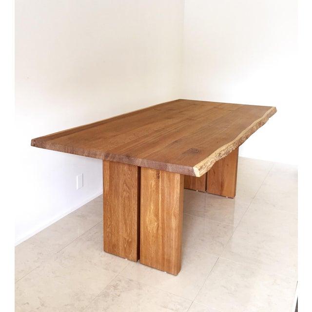 White Oak Slab Live Edge Dining Table - Image 2 of 9