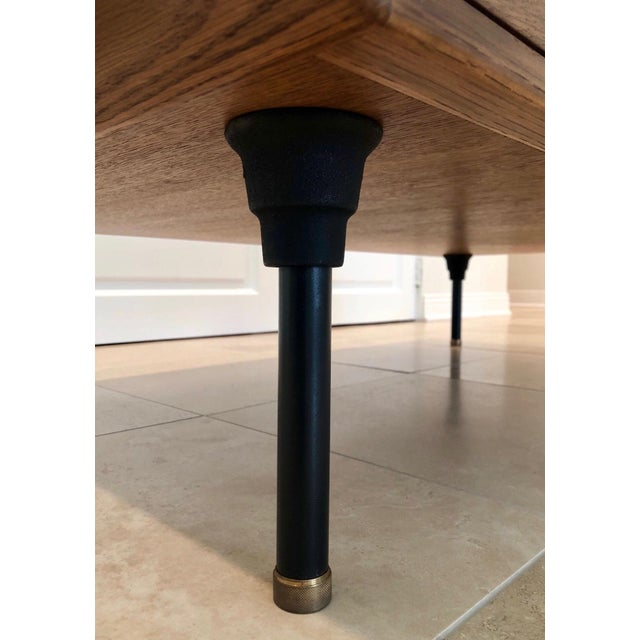 Gold Mid-Century Modern Coffee Table With Storage Space For Sale - Image 8 of 9