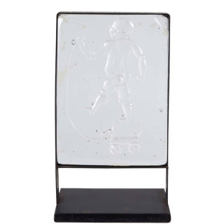 Kosta Boda Mounted Art Glass with Child at Play For Sale