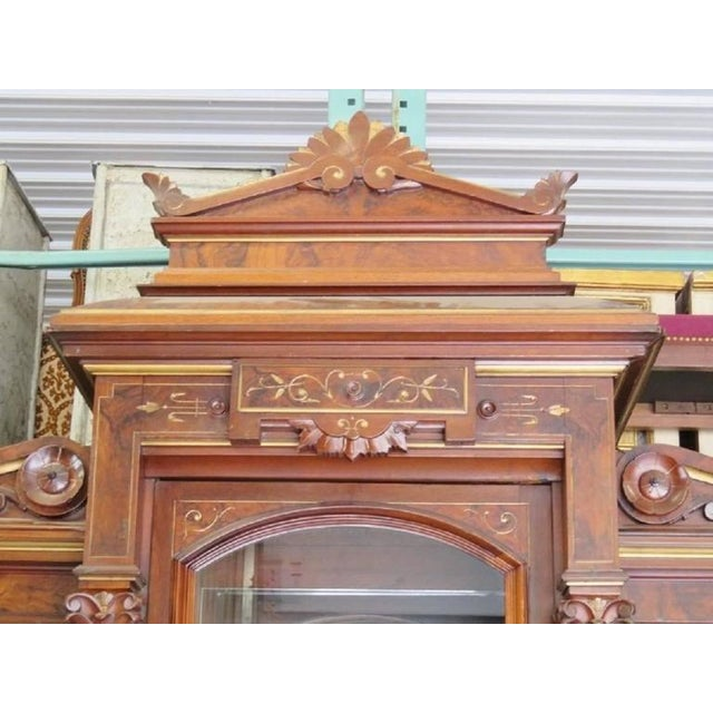 Renaissance Magnificent Monumental Victorian Renaissance Style Bookcase Curio For Sale - Image 3 of 9
