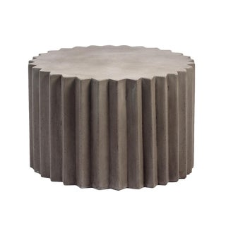 Sunburst Cement Side Table For Sale