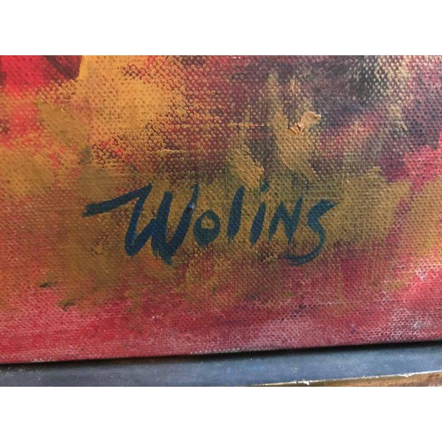 "Joseph Wolins ""Two Figures II"" Painting For Sale - Image 4 of 12"