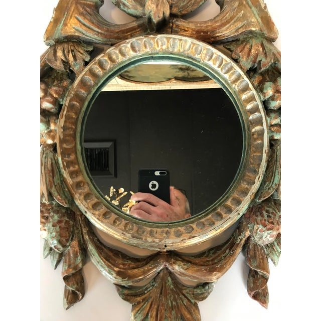 Vintage French Louis XV Carved Wooden Mirror For Sale - Image 4 of 6