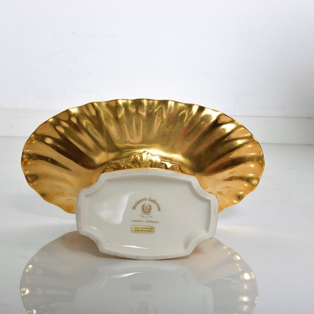 Mid-Century Modern Lenox 24k Gold Aquarius Centerpiece Bowl For Sale In San Diego - Image 6 of 8