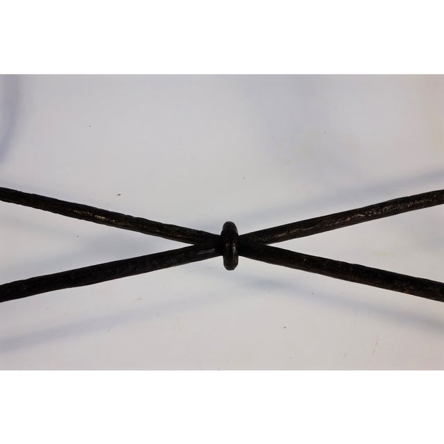 Giacometti Style Wrought Iron Console Table - Image 8 of 8