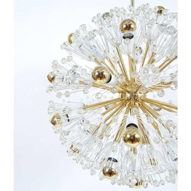 Refurbished Pair Of Large Emil Stejnar Starburst Chandeliers Lamps For Sale - Image 6 of 9