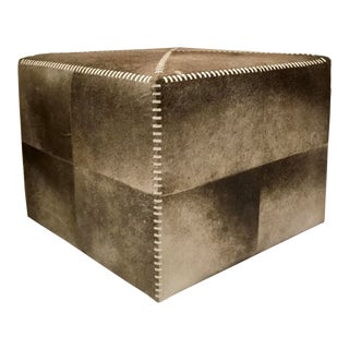 Jamie Young Modern Hair on Hide Ottoman For Sale