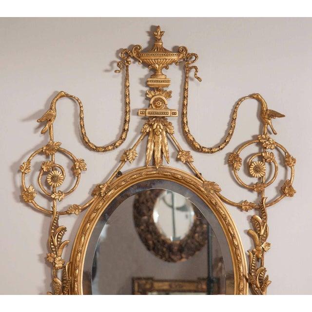Neoclassical George III Style Giltwood Girandole Mirror For Sale - Image 3 of 11