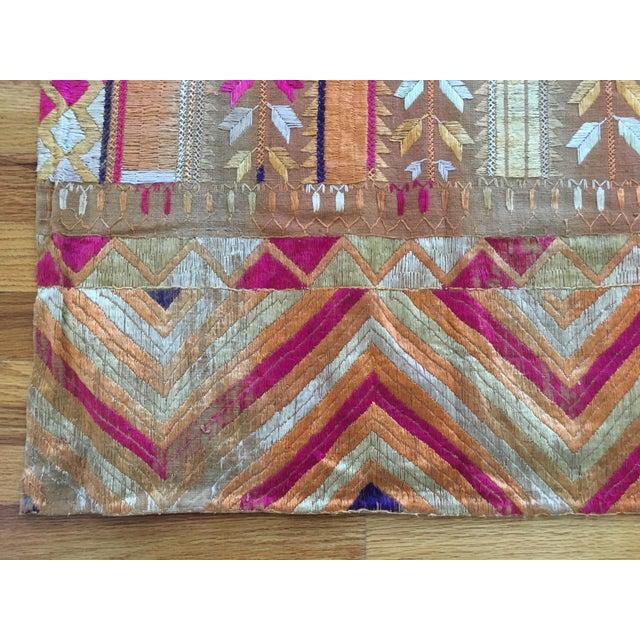 Antique Indian Phulkari Fabric Panels - A Pair - Image 4 of 12