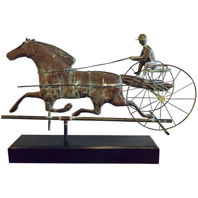 St. Julien Weather Vane Attributed to j.w. Fiske 19th Century Full Bodied Metal For Sale - Image 12 of 12