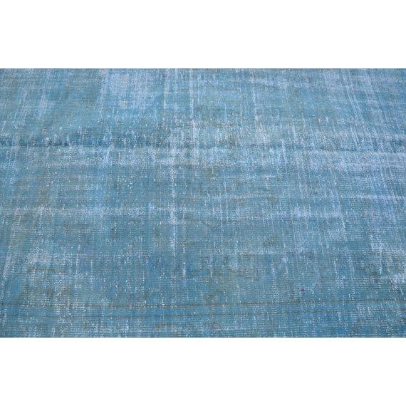 Turkish Oushak Blue Overdye Rug - 5′6″ × 7′10″ - Image 3 of 5