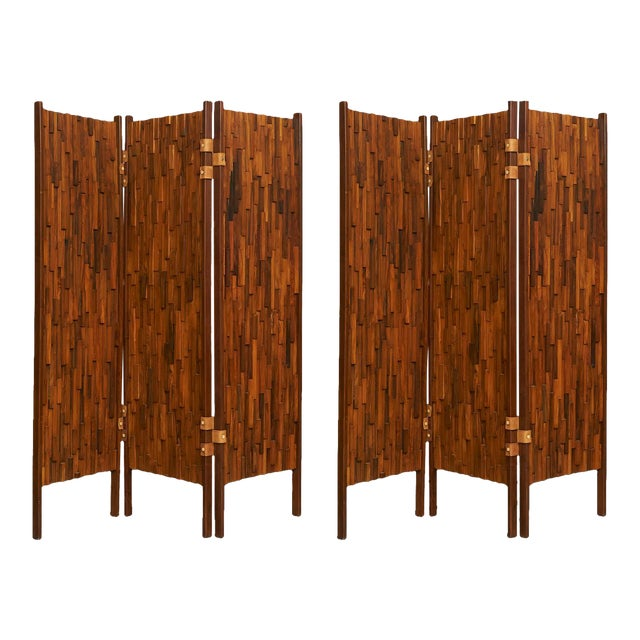 Brazilian rosewood screens in the manner of Percival Lafer - Image 1 of 6