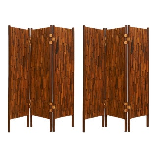 Brazilian rosewood screens in the manner of Percival Lafer - a pair For Sale