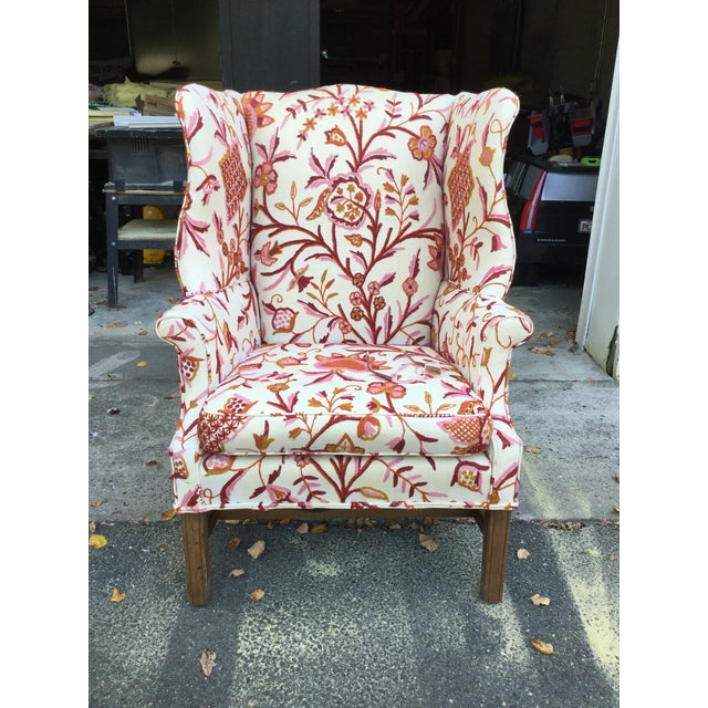 Traditional Vintage English Armchair W/Crewel For Sale - Image 3 of 10