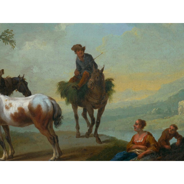 18th Century Antique Landscape Paintings Attr. To Pieter Van Bloemen - a Pair For Sale - Image 4 of 13