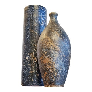 Pair of Vases by Gerhard Libenthron (1974 & 77) For Sale