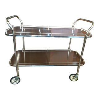 English Brass Bar Cart For Sale