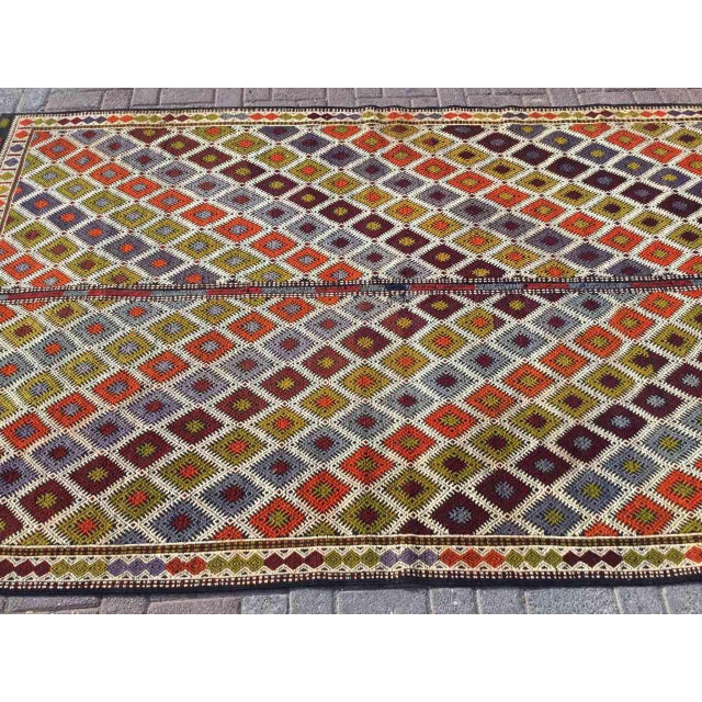 "Turkish Kilim Rug - 5'4"" X 9'1"" - Image 3 of 11"