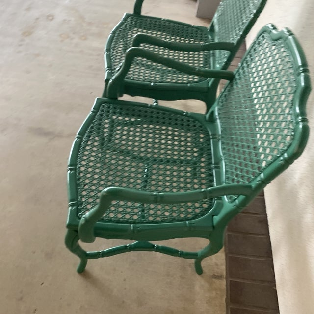 Vintage Green Lacquered Chairs - a Pair For Sale In Houston - Image 6 of 11