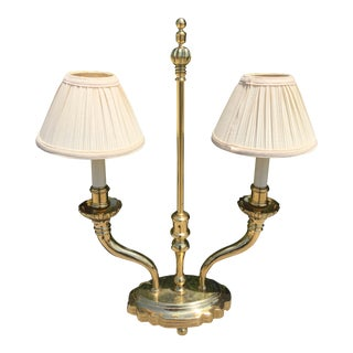 Chapman Solid Brass Desk/Table Lamp For Sale