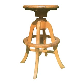 Wooden Artist's Stool For Sale