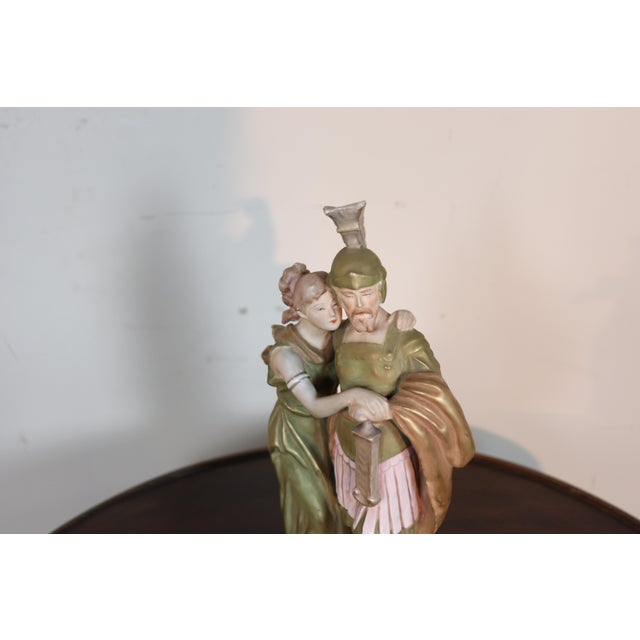 Refined sculpture in porcelain by the important manufacturer Royal Dux. Refined and delicate two figures of lovers of the...