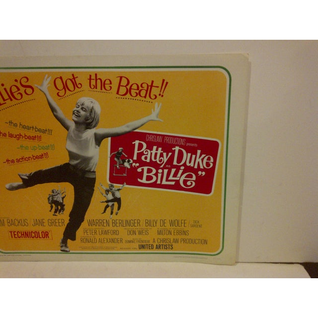"Vintage Movie Poster ""Billies Got the Beat"" Starring Patty Duke For Sale - Image 4 of 5"