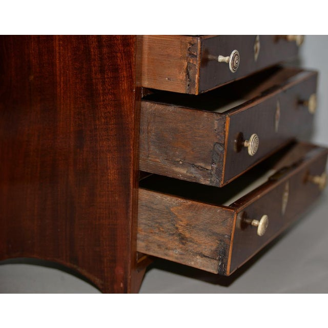 19th Century 19th Century Miniature Mahogany Salesman Sample Chest of Drawers W/ Inlay For Sale - Image 5 of 12