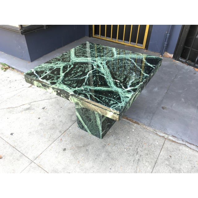 1970s Italian Verde Green Marble Side Table For Sale - Image 10 of 10