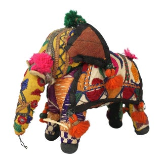 1950s Vintage Yellow Accent Rajasthani Elephant For Sale
