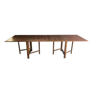 1960s Danish Modern Bruno Mathsson for Karl Mathsson 'Maria' Expandable Dining Table For Sale
