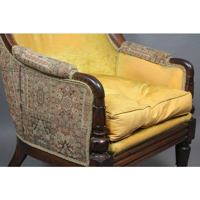 Textile Grand William IV Rosewood Bergere Chair For Sale - Image 7 of 8