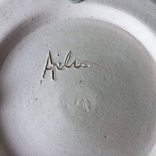 Ceramic Studio Pottery Spatter Ware Serving Bowl-Signed For Sale - Image 7 of 10