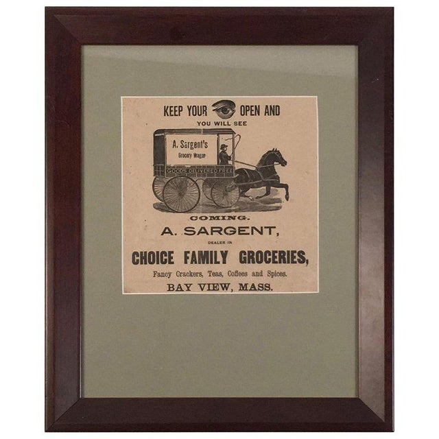 19th Century Rebus Grocery Wagon Advertisement Poster For Sale - Image 10 of 10
