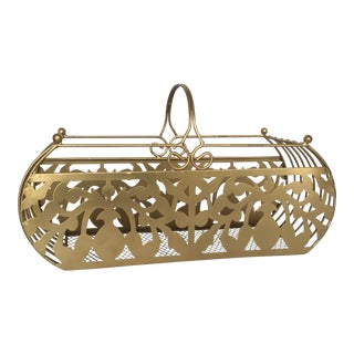 Vintage Metallic Gold Magazine Rack