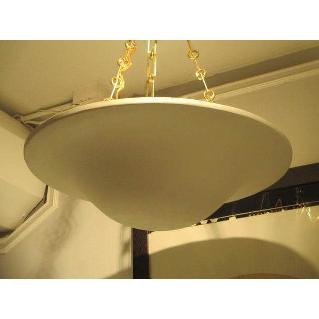 Custom Plaster Chandelier with Brass Chain For Sale - Image 4 of 7