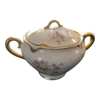 1910s Havilland Limoges Numbered Sugar Bowl For Sale