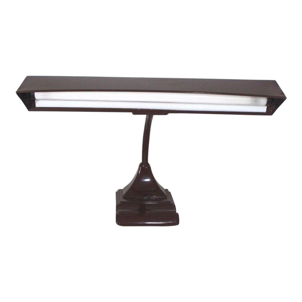 Flexarm Art Deco Steel Fluorescent Desk Lamp Chairish