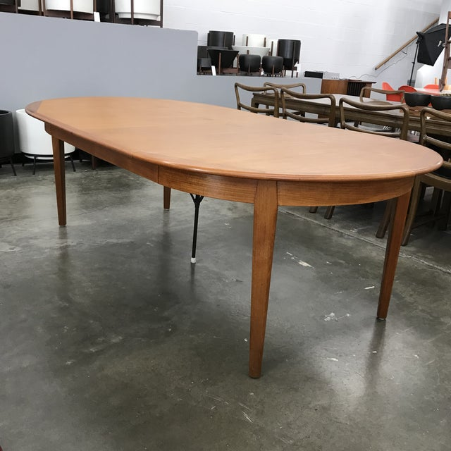 1970s Danish Teak Round/Oval Dining Table by Falster For Sale - Image 5 of 13