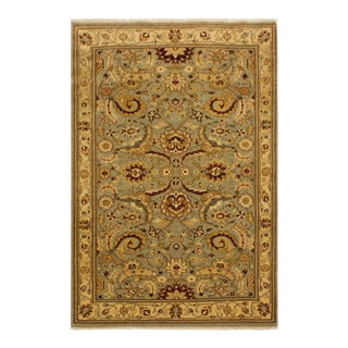 Istanbul Jeromy Lt. Green/Gold Turkish Hand-Knotted Rug -4'2 X 5'10