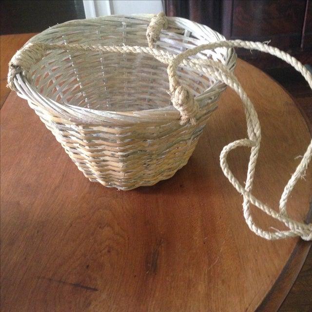 Vintage Hanging Wicker Baskets - Set of 3 - Image 6 of 11