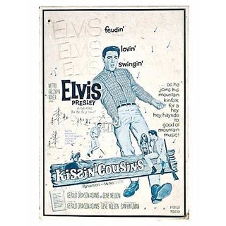 Vintage Elvis Kissin' Cousins Sign For Sale