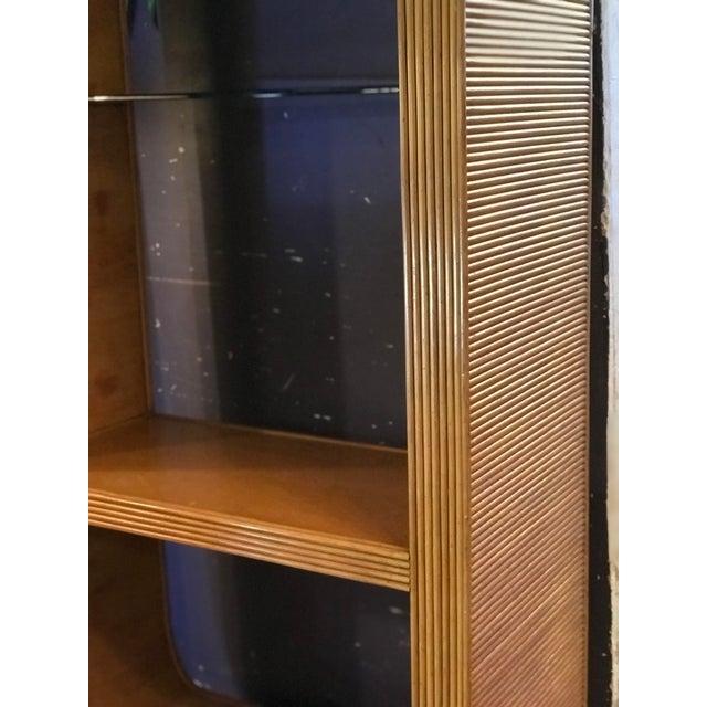 Mid-Century Rattan Shelf Etagere For Sale - Image 10 of 13