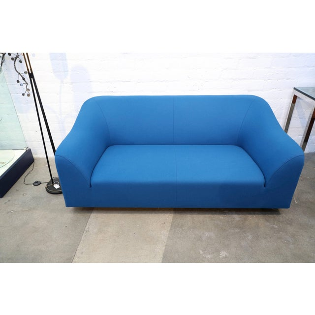 """Eric Jourdan for Ligne Roset """"Snowdonia"""" Sofa in Peacock Wool For Sale In Palm Springs - Image 6 of 7"""