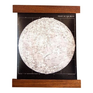 Antique Black & White Moon Chart For Sale