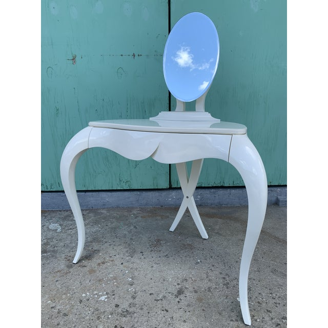 Dramatic and elegant Vanity Fair dressing table and stool by Christopher Guy. This set is certainly among the designers...